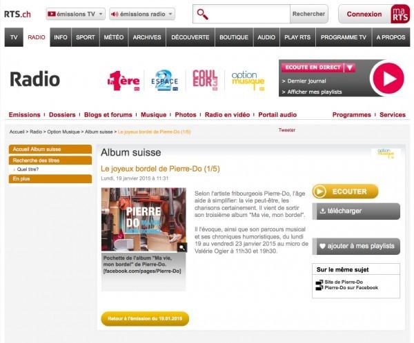 Album suisse - Option Musique